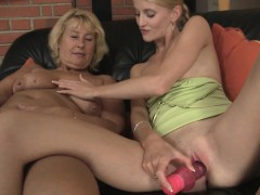 Mom Teaching Teen Toying And Riding