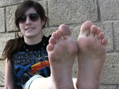 European Girls Dirty Soles Outdoors