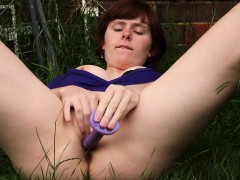 Girls Out West Pale Ginger Backyard Masturbation