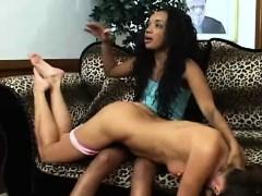 Interracial Lesbian Fight