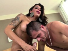 Shemale Aline Dominates In Rage Anal Sex