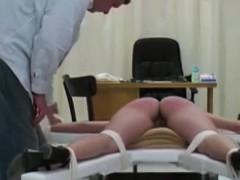 Long legged Babe Gets Spanked