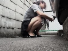 Nice Assed Asian Pissing