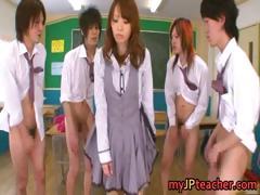 Eri Ouka Sweet Japanese Teacher Gangbang Part5