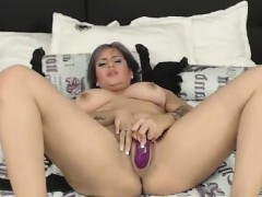 Sexy Big Tit Amateur Cums With A Toy