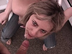 Young Blonde Russian Wife Gets A Throat Gagging