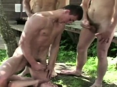Six Guys In A Circle Cum Over One Guys Face