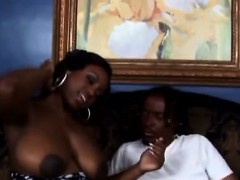 Flavor Gives Love To Stunning Big Boobed Black Babe