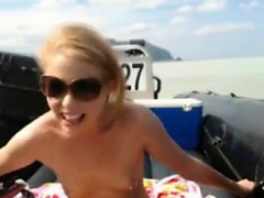 Blonde Teen Masturbating Outside In Public