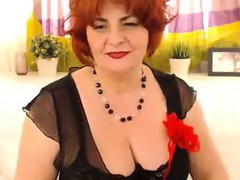 big-red-haired-granny-strips