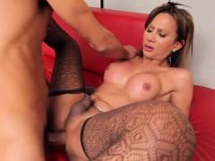 Latina Tgirl In Stockings Doggystyled