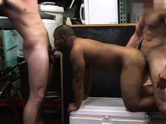 Black Big Ass Dude Enjoys Two Cock