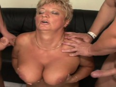 Mature Blonde Needs Two Cocks To Be Satisfied