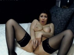 busty-brunette-milf-cant-handle-that-huge-toy