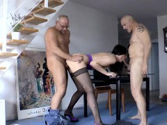 Stockings Milf Gets Doublepenetration In Trio