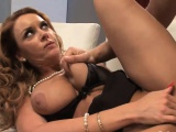 Kinky ginger MILF has her pussy drilled