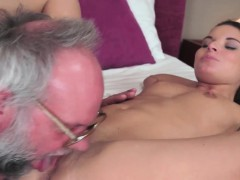 Granddad Playful With A Babe