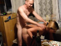 Sensual Blonde Bends Over And Gets Her Peach Fucked Deep Fr
