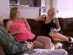 amateur-couple-invites-a-tiny-blonde-for-a-threesome