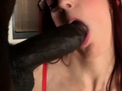 Assfucked Redhead Facialized Over Her Spex