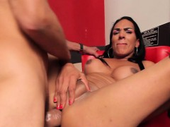Brunette Shemale Hard Fucked In Tranny Ass