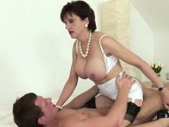 Unfaithful British Mature Gill Ellis Shows Her Big Tits