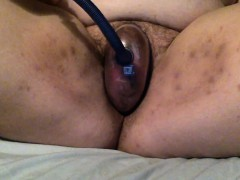 Fat Pumps Clit And Her Vagina