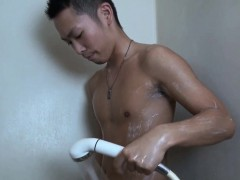 Asian Twink Tugging Cock