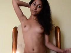 Petite Indian Desi Teen Masturbates Her Pussy On Chair