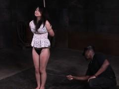 Fem Slave Roughly Punished With Cane