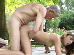 Teen Step Sister Masturbating Doggy Style Fucks Old Man