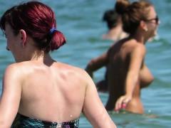 Hot Amateurs Topless Voyeur Beach Sexy Big Tits Babes