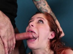 redhead-sexslave-roughly-throated-balls-deep