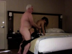 Old man Making Love Having A Thin Teenager