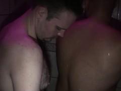 Chubby Bear Barebacks In Secret Shower Sex