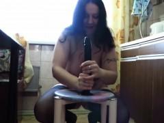 chubby-mom-katja-riding-big-dildo