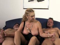 Xxx Omas German Mature Gets Fucked Hard In Threesome