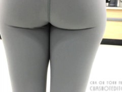 Random College Teen With Yoga Pants At The Store