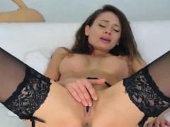 Smoking Hot Russian Babe Masturbates On Cam