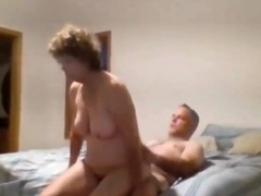 Old Couple Having Sex On Bed