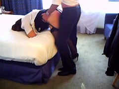 Two Co workers Share For Intercourse In Accommodation A Mat