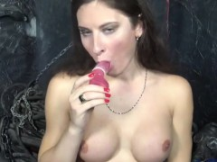 Solo Russian Tgirl Toying Ass With Dildo