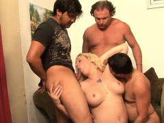 Kinky Gangbang Session With A Mature Blonde