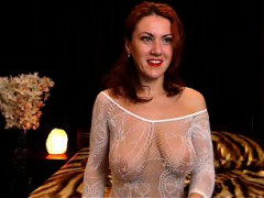 smiling-redhead-milf-is-appearing-mesh-in-a-see-through