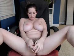 hot-babe-sucking-her-tits-and-masturbating-on-cam
