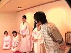 Asian Hotties In Robes Make Out And Get Fingered By A Singl