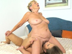 Bigtit Babe And Granny Enjoy Lesbiansex