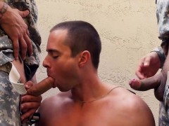 Cock Hungry Recruits Is Eager To Suck Some Fat Dicks Outside