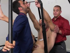 Suited Studs Assfuck On Swing In Office