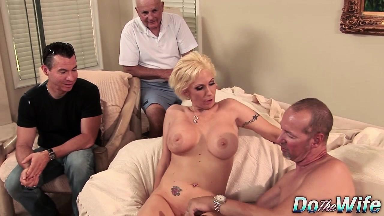 Blonde milf wife big cock anal creampie